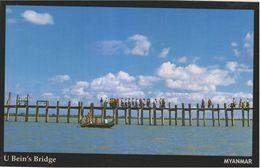 Myanmar 2018 Landscape/Views Postcard — U Bein's Bridge (beautiful Stamp And Special Postmark At Back) - Myanmar (Burma)