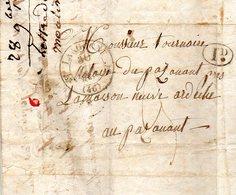 H914  Langogne Lozère 1834 Simple Fleuron Et Décime Rural écrite De Pradelles - 1801-1848: Precursors XIX