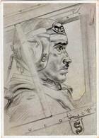 Propaganda Karte , Oberstleutnant Galland, Jagdflieger, Willrich Karte - Aviatori