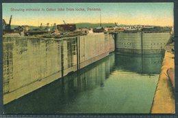 Panama Canal Postcard. Entrance To Galun Lake From Locks - Panama