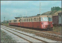 Ferrocarril Cantábrico Automotor Térmico Serie MDA Na 13 - Ferroviaries Tarjeta Postal - Trains