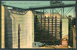 Panama Canal Postcard. Pedro Miguel Lock Gates - Peru