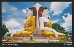 Myanmar 2018 Landscape/Views Postcard — Kyaik Pun Pagoda (beautiful Stamp And Special Postmark At Back) - Myanmar (Burma)