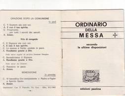 53)libretto Religioso Ordinario Della Messa - Religion