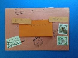 1982 ITALIA BUSTA RACCOMANDATA VILLAPIANA LIDO CS CON CASTELLO 200 + 900 - 1981-90: Storia Postale