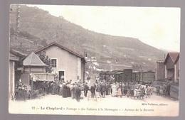 Le CHEYLARD ,La GARE, Train, Enfants De La Montagne , RARE éditeur Mle VALLETON N° 21 - Le Cheylard