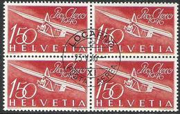 "Schweiz Suisse 1946: PRO AERO ""Gleiter Zögling"" Zu 41 Mi 470 Yv PA40 Block O LOCARNO 23.V.46 (Zu CHF 190.00) - Used Stamps"