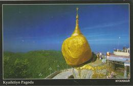 Myanmar 2018 Landscape/Views Postcard — Kyaiktiyo Pagoda (beautiful Stamp And Special Postmark At Back) - Myanmar (Burma)