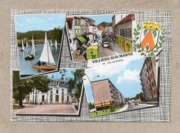 CPSM Dentelée - VILLIERS-sur-MARNE (94) - Carte Multi-vues Au Blason Héraldique Des Années 60 / 70 - Villiers Sur Marne