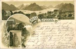Gruss Aus Brunnen - Litho - SZ Schwyz