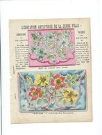 Broderie Calque Education Artistique De La Jeune Fille Protège-cahier Couverture 220 X 175  Bon état 3 Scans - Protège-cahiers