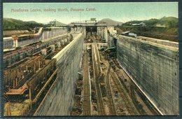 Panama Canal Postcard. Miraflores Locks - Panama