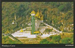 Myanmar 2018 Landscape/Views Postcard — Pindaya Cave (beautiful Stamp And Special Postmark At Back) - Myanmar (Burma)