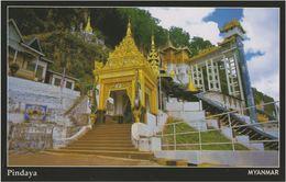 Myanmar 2018 Landscape/Views Postcard — Pindaya (beautiful Stamp And Special Postmark At Back) - Myanmar (Burma)