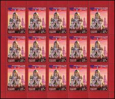 Russia 2018 Sheet Church Of All Saints Yekaterinburg Architecture Religions Buildings Imperial Family Royals Stamps MNH - Religions