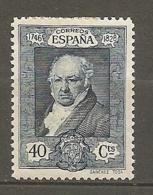 Yv. N° 420  *  40c  Goya   Cote 5 Euro  BE R  2 Scans - 1889-1931 Kingdom: Alphonse XIII