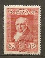 Yv. N° 421  *  40c  Goya   Cote 5 Euro  BE   2 Scans - 1889-1931 Kingdom: Alphonse XIII