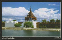 Myanmar 2018 Landscape/Views Postcard — Mandalay Palace (beautiful Stamp And Special Postmark At Back) - Myanmar (Burma)