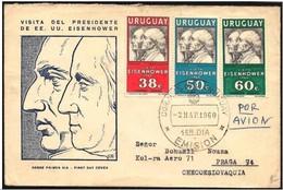 Uruguay - FDC - Washington, Eisenhower, Artigas - George Washington