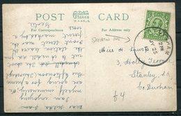 1912 GB Woodlands Road, Ansdell Postcard. Lytham Skeleton Postmark - Stanley, Co. Durham - 1902-1951 (Kings)