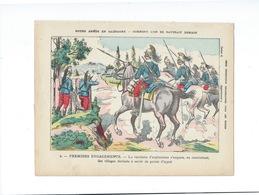 Notre Armée En Campagne Premiers Engagements Protège-cahier Couverture 220 X 175  Bon état 3 Scans - Protège-cahiers