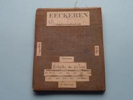EECKEREN Calmpthoutschenhoek : 1/20.000 (2e Edition ) Oude 2de Hands Kaart Op Katoen / Cotton ) België ( Ekeren ) ! - Europe