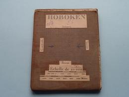 HOBOKEN Anvers : 1/20.000 () Oude 2de Hands Kaart Op Katoen / Cotton ) België ( Hoboken ) ! - Europe