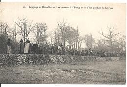 CHASSE A COURRE. EQUIPAGE DE BONNELLES. LES CHASSEURS A L' ETANG DE LA TOUR PENDANT LE BAT L' EAU - Postkaarten