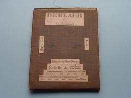 BERLAER Grobbendonck: 1/20.000 () Oude 2de Hands Kaart Op Katoen / Cotton ) België ( Berlaar ) ! - Europe