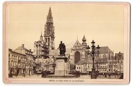 Fotografie Böltink & Ackermann, Anvers, Ansicht Anvers / Antwerpen, La Place Verte Et La Cathédrale - Orte