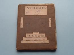 SCHILDE Brecht / Lierre : 1/20.000 () Oude 2de Hands Kaart Op Katoen / Cotton ) België ( Schilde ) ! - Europe