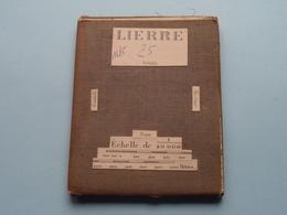 LIERRE Schilde / Contich / Berlaer : 1/20.000 () Oude 2de Hands Kaart Op Katoen / Cotton ) België ( Lier ) ! - Europe