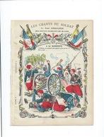 A LA BAÎONNETTE Les Chants Du Soldat Paroles De La Chanson RR Protège-cahier Couverture 220 X 175  Bon état 3 Scans - Protège-cahiers