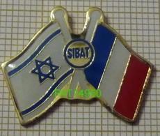 ARMEE DEFENSE SIBAT DRAPEAU ISRAEL & FRANCE En Version EPOXY - Militaria