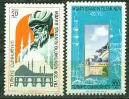AC - TURKEY STAMP  -  The 400th DEATH ANNIVERSARY OF ATCHITECT MIMAR SINAN MNH  09 APRIL 1988 - 1921-... Republic