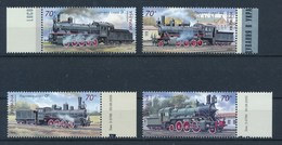 Ukraine 2005 Mi. 732 - 735 Rand Postfr. Eisenbahn Lokomotiven - Ukraine
