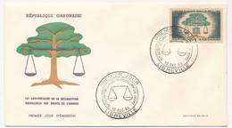 GABON => 1 FDC => 15eme Anniversaire De La Déclaration Universelle Des Droits De L'homme - 10 Déc 1983 - LIBREVILLE - Gabon (1960-...)