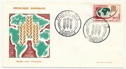 GABON => FDC => Campagne Mondiale Contre La Faim - 21 Mars 1963 - LIBREVILLE - Gabon (1960-...)