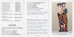 Vitulano BN - Santino Depliant SAN GIUSEPPE SPOSO DELLA BEATA VERGINE MARIA - PERFETTO P84 - Religione & Esoterismo