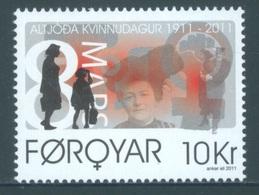 FEROE -  MNH/*** LUXE - 2011 - WOMAN DAY - Yv  712 -  Lot 18334 - Féroé (Iles)