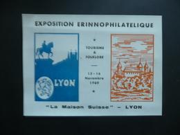 Vignette Lyon 1969 Exposition Erinnoplilatélique - Erinnophilie