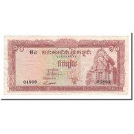 Billet, Cambodge, 10 Riels, 1962-1975, KM:11b, TTB - Cambodge