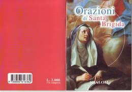 60)libretto Religioso Orazioni A Santa Brigida - Religion