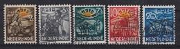 Nederlands Indië - Algemeen Steunfonds Voor Inheemse Behoeftigen - Gebruikt/used - M 230-234 - Niederländisch-Indien