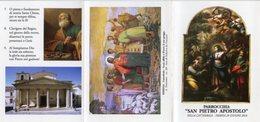 "Isernia - Santino Depliant PARROCCHIA ""SAN PIETRO APOSTOLO"" - PERFETTO P84 - Religione & Esoterismo"