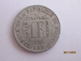 Burundi: 1 Franc 1970 - Burundi