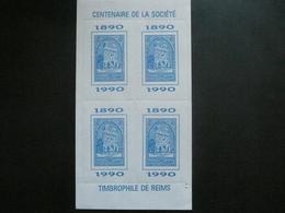 Vignette Reims 1990 Centenaire De La Societe Timbrophile - Erinnophilie