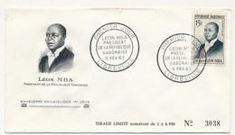 GABON => FDC => Léon MBA, Président De La République Gabonaise - 9 Février 1962 - LIBREVILLE - Gabon (1960-...)