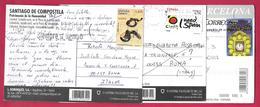 SANTIAGO DE COMPOSTELA - BARCELONA - ESPANA - FELIZ ANO - I NEED SPAIN - CASTANUELAS - 2011-... Usati