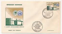 GABON => FDC => 4eme Journée Météorologique Mondiale - 23 Mars1964 - LIBREVILLE - Gabon (1960-...)